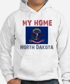 My Home North Dakota Vintage Hoodie