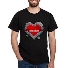 My Heart North Dakota Vector T-Shirt