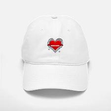 My Heart North Dakota Vector Baseball Baseball Cap
