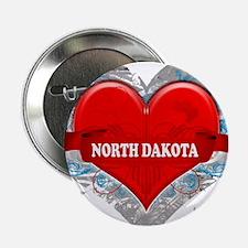 """My Heart North Dakota Vector 2.25"""" Button"""