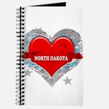 My Heart North Dakota Vector Journal
