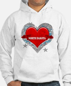 My Heart North Dakota Vector Hoodie
