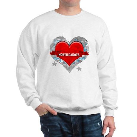 My Heart North Dakota Vector Sweatshirt
