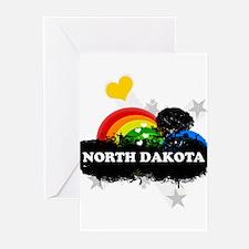 Sweet Fruity North Dakota Greeting Cards (Pk of 20