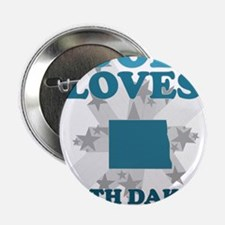 "God Loves North Dakota 2.25"" Button"