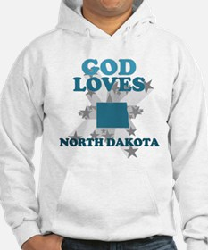 God Loves North Dakota Hoodie
