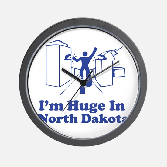 I'm Huge in North Dakota Wall Clock