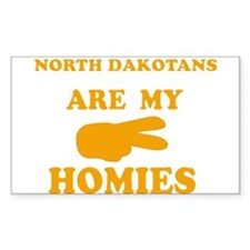 North Dakotans are my homies Rectangle Decal