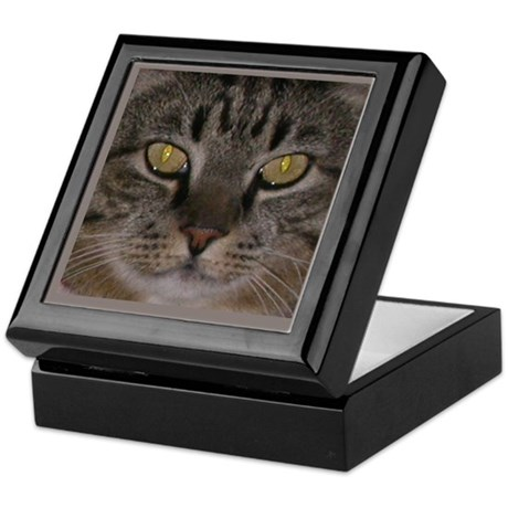 """Mr Boots"" Tabby Cat Keepsake Box"