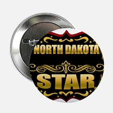 """North Dakota Star Gold Badge 2.25"""" Button"""