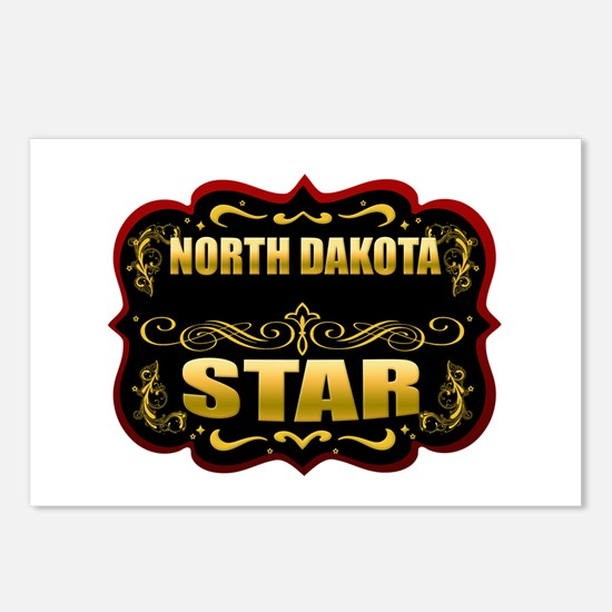 North Dakota Star Gold Badge Postcards (Package of