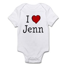 I love Jenn Infant Bodysuit