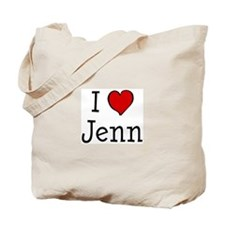 I love Jenn Tote Bag