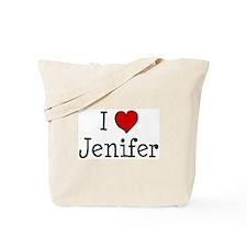 I love Jenifer Tote Bag