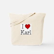 I love Karl Tote Bag
