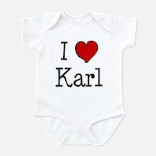 I love Karl Infant Bodysuit