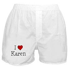 I love Karen Boxer Shorts