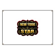 New York Star Gold Badge Seal Banner