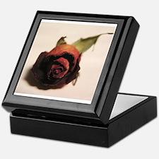 Dry red rose Keepsake Box