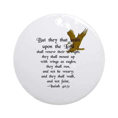 """But They that Wait ..."" Ornament (Round)"