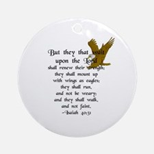 """""""But They that Wait ..."""" Ornament (Round)"""