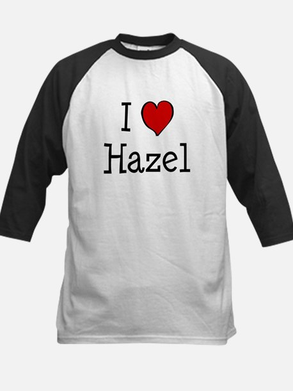 I love Hazel Kids Baseball Jersey
