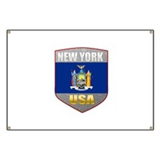 New York USA Crest Banner