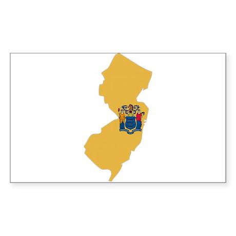 New Jersey Stripe Custom Desi Rectangle Sticker