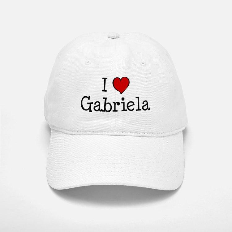 I love Gabriela Baseball Baseball Cap