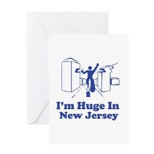 I'm Huge in New Jersey Greeting Card