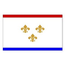 New Orleans Flag Rectangle Decal