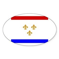 New Orleans Flag Oval Decal