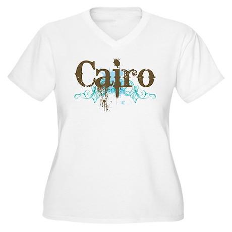 Fun Cairo Women's Plus Size V-Neck T-Shirt