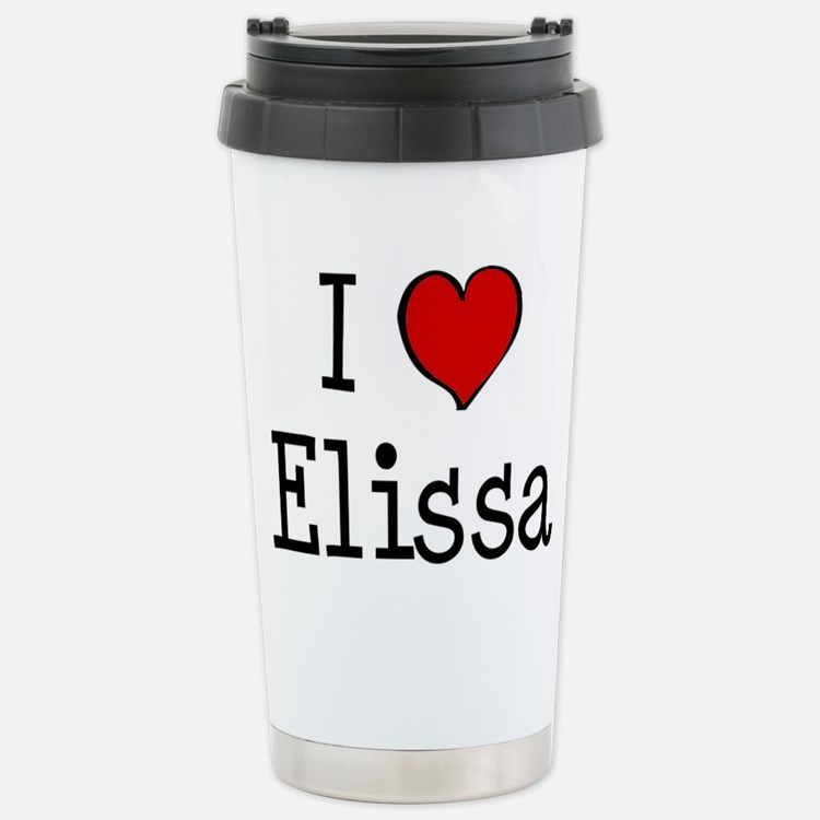 I love Elissa Travel Mug
