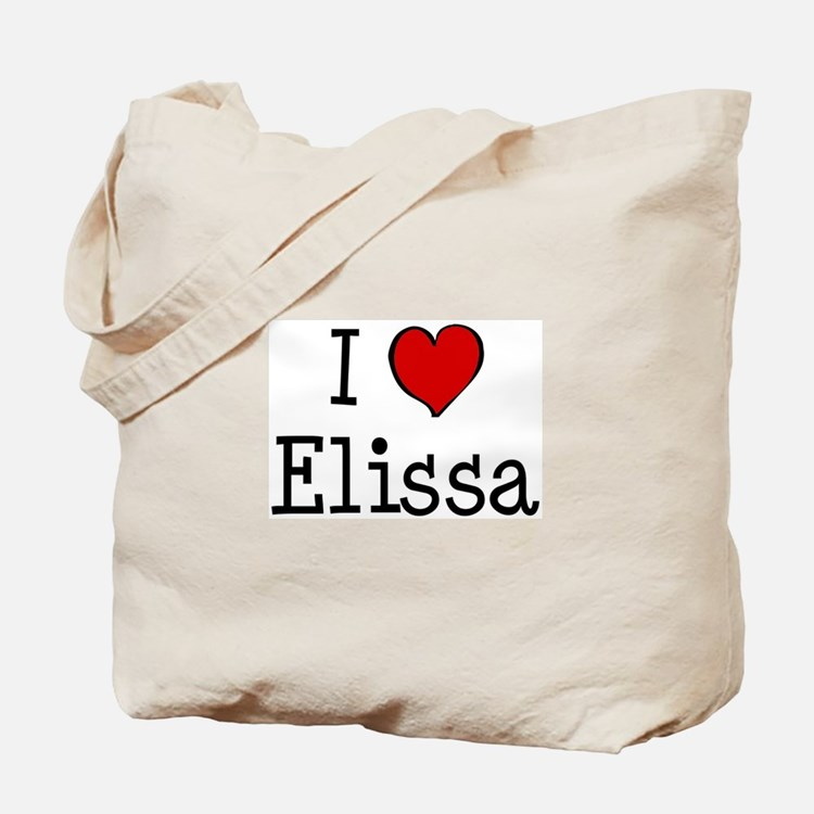 I love Elissa Tote Bag