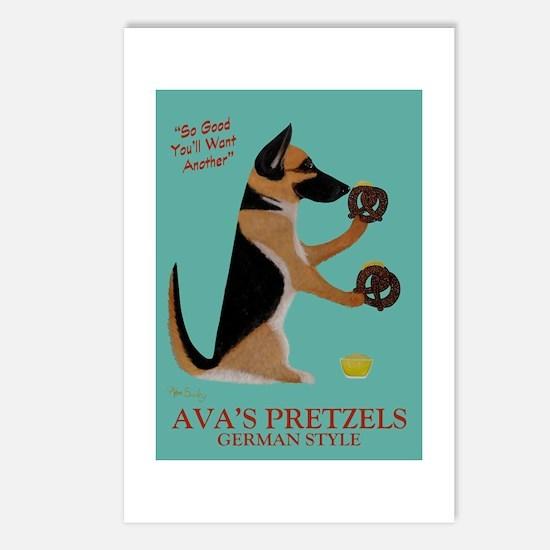 Ava's Pretzels Postcards (Package of 8)