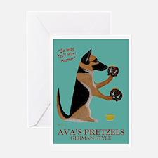 Ava's Pretzels Greeting Card