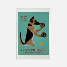 Ava's Pretzels Rectangle Magnet