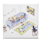 Yes We Cat! Tile Coaster