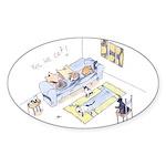 Yes We Cat! Oval Sticker (10 pk)