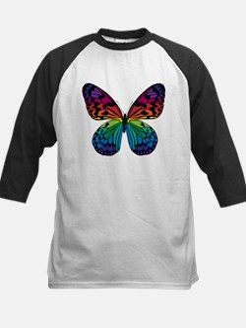 Psychadelic Butterfly Kids Baseball Jersey