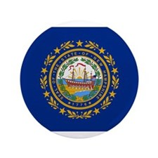 """Beloved New Hampshire Flag Mo 3.5"""" Button"""