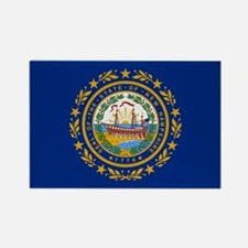 Beloved New Hampshire Flag Mo Rectangle Magnet