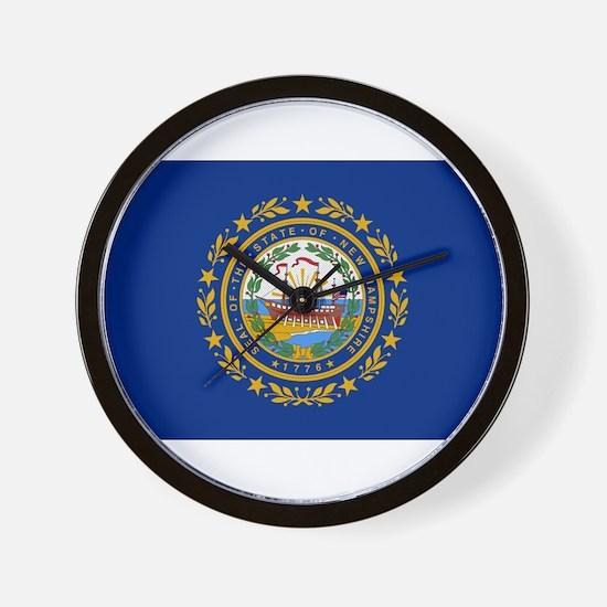 Beloved New Hampshire Flag Mo Wall Clock