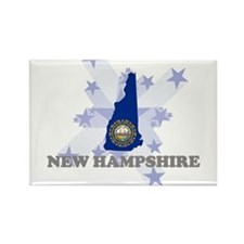 All Star New Hampshire Rectangle Magnet