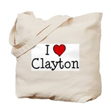 I love Clayton Tote Bag