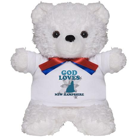 God Loves New Hampshire Teddy Bear
