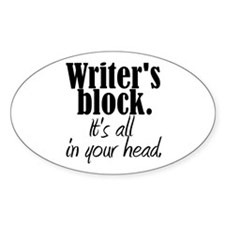 Writer's Block Oval Decal