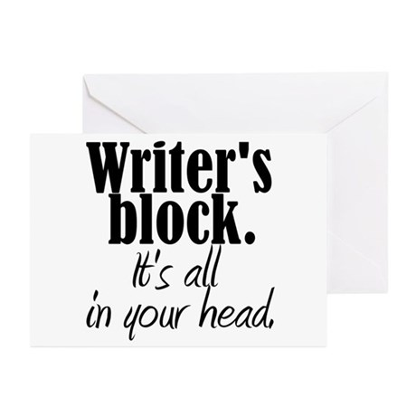 Writer's Block Greeting Cards (Pk of 10)