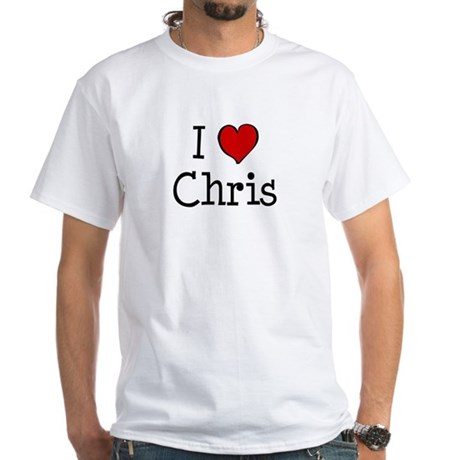 I love Chris White T-Shirt